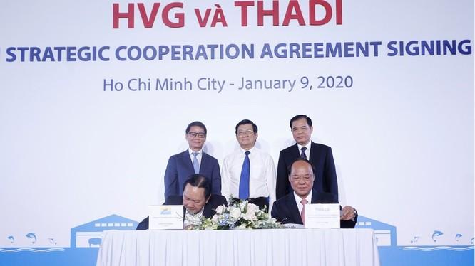 Buổi lễ ký kết hợp tác chiến lược giữa Thadi và HVG (Ảnh: Thaco)