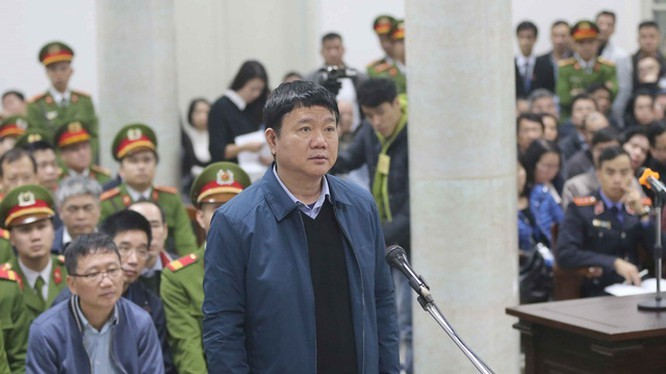 Ông Đinh La Thăng tại một phiên tòa vào năm 2018 (Ảnh: TTXVN)