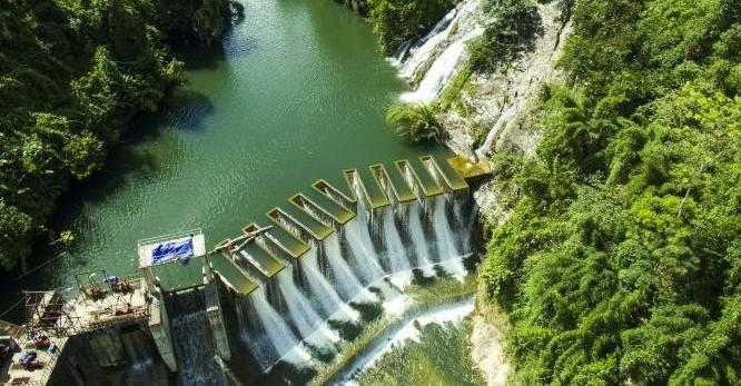 Một nhà máy thủy điện của Điện lực Trung Sơn từ trên cao (Ảnh: DLTS)
