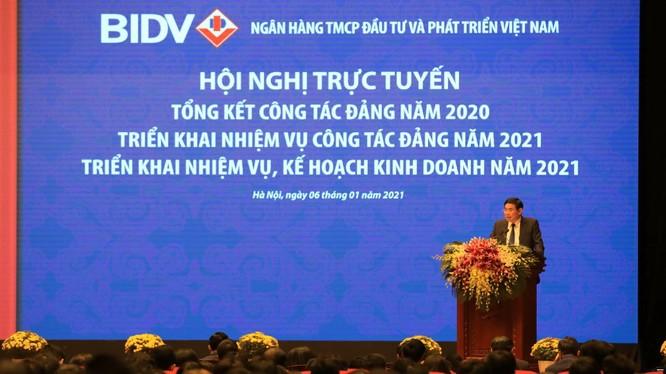 Chủ tịch BIDV Phan Đức Tú phát biểu tại hội nghị (Nguồn: BIDV)