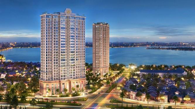 Phối cảnh dự án D'. El Dorado II do CTCP Đầu tư xây dựng Phú Thanh - đơn vị rót 900 tỉ đồng vào CTCP Tổng Bách Hoá - làm chủ đầu tư.