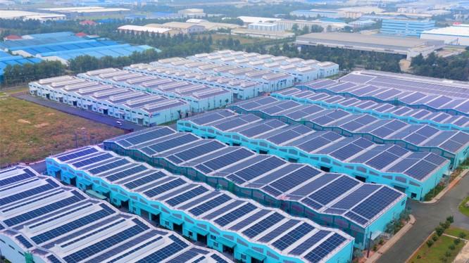 Một dự án điện mặt trời áp mái tại Đồng Nai của SkyX Solar