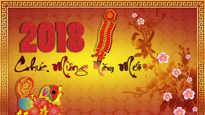 Năm mới Mậu Tuất đã tới (ảnh thiepmung.com)