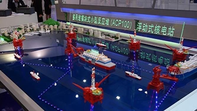 Mô hình nhà máy điện hạt nhân nổi cỡ nhỏ cấp điện cho các giàn koan dầu trên biển