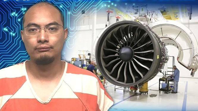 Hứa Ngạn Quân bị bắt và cáo buộc tìm cách đánh cắp công nghệ vật liệu hợp kim dùng chế tạo cánh quạt của động cơ turbine của GE Avation