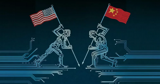 Chip bán dẫn đã trở thành mặt trận mới trong cuộc chiến tranh thương mại Mỹ - Trung .