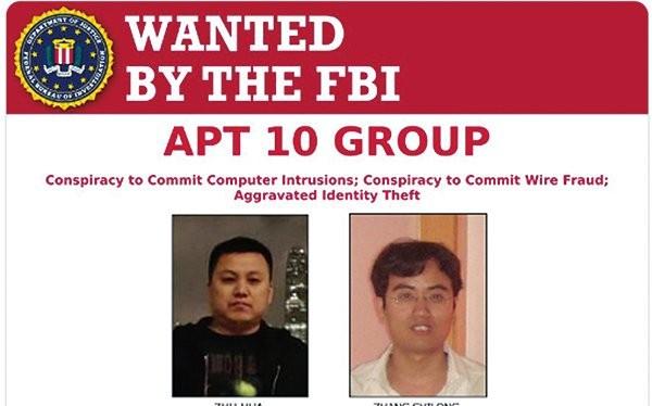 Hai công dân Trung Quốc bị Bộ Tư pháp khởi tố, FBI truy nã về tội xâm nhập mạng lấy cắp tài liệu cơ mật của Mỹ và 12 nước khác