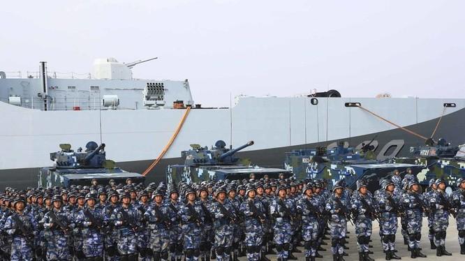 Lực lượng Lính thủy đánh bộ Trung Quốc đã nâng cấp biên chế từ lữ đoàn lên thành quân đoàn.