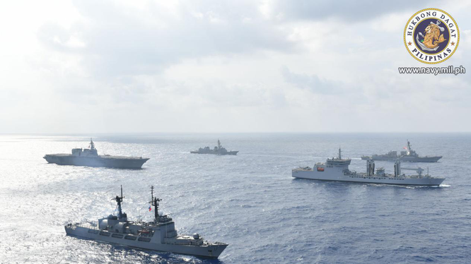Cuộc diễn tập chung của hải quân 4 nước trên Biển Đông được xem là sự thách thức yêu sách quá đáng của Trung Quốc
