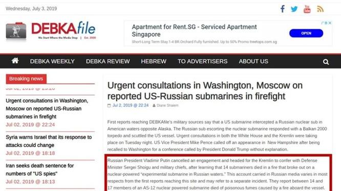 """Bản tin trên trang """"DEBKAfile"""" được cho là tin giả cỡ bom tấn"""