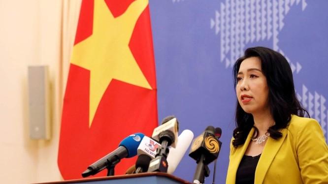 Bà Lê Thị Thu Hằng: Việt Nam đã thực hiện nhiều biện pháp ngoại giao, bao gồm đưa ra tuyên bố ngoại giao phản đối hành động của Trung Quốc, yêu cầu Trung Quốc rút tàu khỏi vùng biển Việt Nam. Ảnh: Đa Chiều.