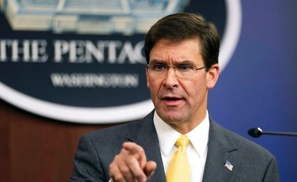 Bộ trưởng Quốc phòng Mỹ Mark Esper: rõ ràng Trung Quốc đang áp dụng chiến lược có chủ ý phá hoại sự ổn định khu vực. Ảnh: Đông Phương