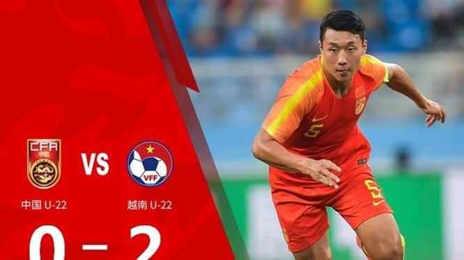 Trận thua đậm 0-2 của đội Olympic Trung Quốc trước U22 Việt Nam đã khiến dư luận Trung Quốc dậy sóng. Ảnh: Sohu