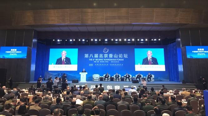 """Diễn đàn Hương Sơn Bắc Kinh lần thứ 9 năm nay với chủ đề """"Duy trì trật tự quốc tế và xây dựng hòa bình ở khu vực châu Á - Thái Bình Dương"""" sẽ diễn ra từ 20-22 tháng 10. Ảnh: Diễn đàn lần thứ 8 năm 2018."""