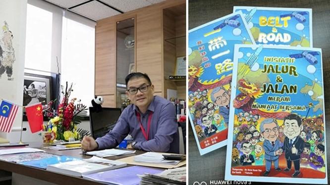 Ông Khưu Quang Diệu - tác giả và cuốn truyện tranh bị chính phủ Malaysia ra lệnh cấm.