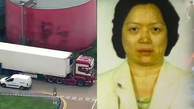 Trịnh Thúy Bình và chiếc xe lạnh nơi xảy ra thảm kịch.