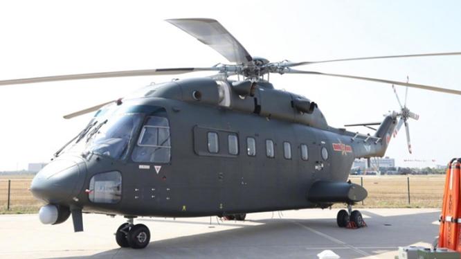 Chiếc trực thăng vận tải Zh-8G cùng loại với chiếc máy bay bị tai nạn hôm 11/10.