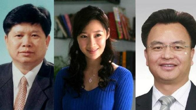 Hứa Thu Lâm, người tình dùng chung của hai đời Bí thư thành ủy Yết Dương Vạn Khánh Lương (phải) và Trần Hoằng Bình (trái).
