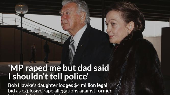 Bà Rosslyn Dillon, con gái cựu Thủ tướng Australia Bob Hawke lên tiếng tố cáo cha và đòi bối thường do bị bạn ông xâm hại tình dục. Ảnh: Ông Bob Hawke và con gái Rosslyn.