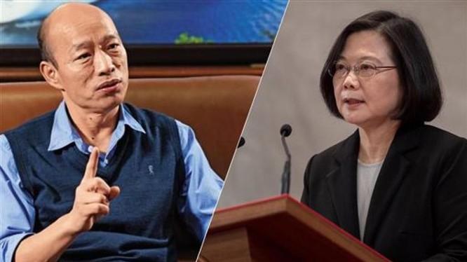 Cuộc bầu cử Tổng thống Đài Loan diễn ra ngày 11/1/2020 tới sẽ là cuộc ganh đua giữa hai ứng cử viên Hàn Quốc Du của Quốc Dân Đảng và Thái Anh Văn của Đảng Dân chủ Tiến bộ.