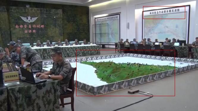Bức ảnh quân đội Trung Quốc diễn tập tấn công Đài Loan bị rò rỉ trên mạng (Ảnh: Đa Chiều).