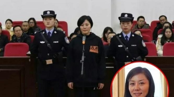 Khương Bảo Hồng, cựu nữ thị trưởng Vũ Uy phải nhận mức án 12 năm tù giam về tội nhận hối lộ. (Ảnh: Đông Phương).
