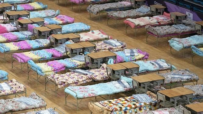 """Vũ Hán, """"tâm bão"""" của đại dịch đã lập thêm 11 bệnh viện tạm để thu nhận điều trị cách ly những người bị bệnh (Ảnh: Tân Hoa xã)"""