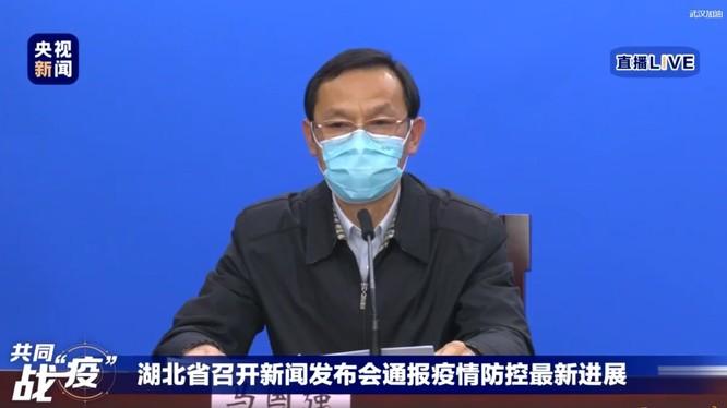 """Ông Mã Quốc Cường gây xôn xao cộng đồng mạng khi tuyên bố """"đã rà soát 99% người dân Vũ Hán"""" (Ảnh: CCTV)"""