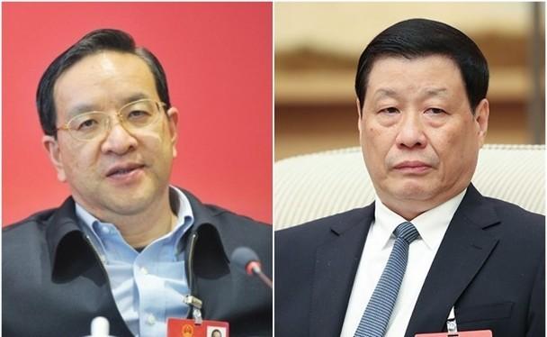 Ông Ứng Dũng (phải) sáng 13/2 được Trung ương Đảng Cộng sản Trung Quốc cử làm Bí thư tỉnh ủy Hồ Bắc thay ông Tưởng Siêu Lương vừa bị bãi chức (Ảnh: Đông Phương).