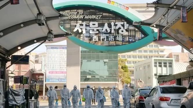 Hàn Quốc đang phải căng mình chống dịch (Ảnh: Tân Hoa xã)