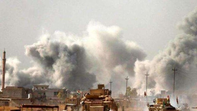 Chiến sự giữa quân đội Thổ Nhĩ Kỳ và Syria ở tỉnh Idlip đang diễn ra ác liệt (Ảnh: Sohu).