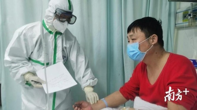 Trung Quốc xuất hiện hiện tượng nhiều người đã chữa khỏi ra viện lại dương tính với nCoV (Ảnh: Nanfang).