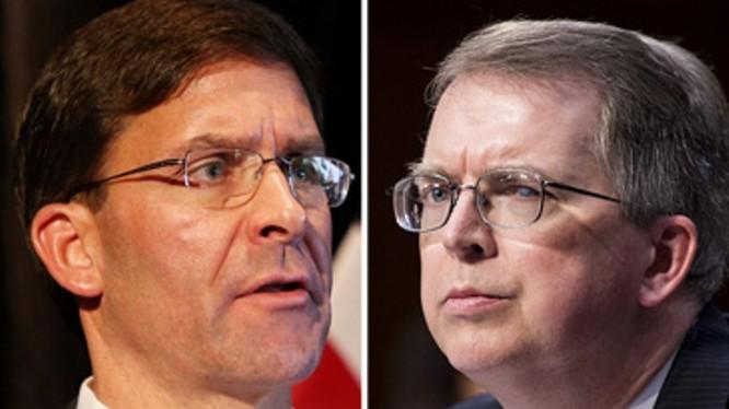 Cả Bộ trưởng Quốc phòng Mark Esper và Thứ trưởng David Norquist đều phải cách ly để phòng dịch bệnh COVID-19 (Ảnh: Guancha).