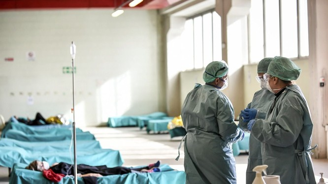 Tình hình dịch bệnh ở Italy bi đát, số bị bệnh và tử vong tăng chóng mặt (Ảnh: AP).