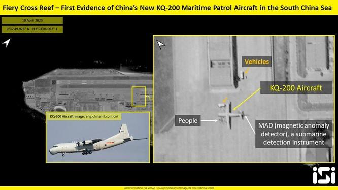 Trung Quốc đưa máy bay quân sự bố trí trên đá Chữ Thập thuộc chủ quyền Việt Nam (Ảnh: southfront.org).