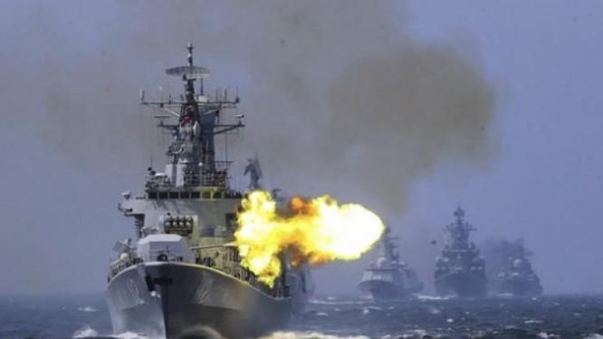 Từ ngày 14/5, Trung Quốc sẽ tiến hành cuộc diễn tập thực binh lớn kéo dài 2 tháng rưỡi ở Vịnh Bột Hải nhằm vào Đài Loan (Ảnh: Sina).