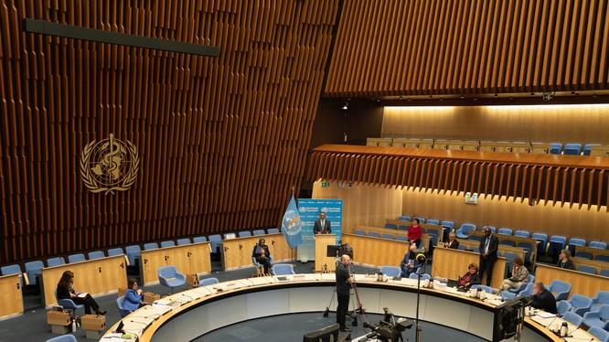 Kỳ họp lần thứ 73 Đại hội Y tế thế giới đã kết thúc với một nghị quyết được nhất trí thông qua kêu gọi đánh giá độc lập về phản ứng toàn cầu đối với dịch bệnh COVID-19, bao gồm điều tra vai trò của WHO (Ảnh: AFP).