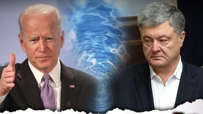 Sự nghiệp chính trị của ông Joe Biden (trái) có thể bị ảnh hưởng do việc Ukraine điều tra vụ án cựu tổng thống Petro Poroshenko (Ảnh: DF).