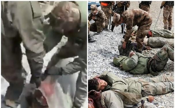 Lính Ấn Độ đánh lính Trung Quốc (trái) và lính Trung Quốc bắt lính Ấn Độ (phải) (Ảnh: Đông Phương)