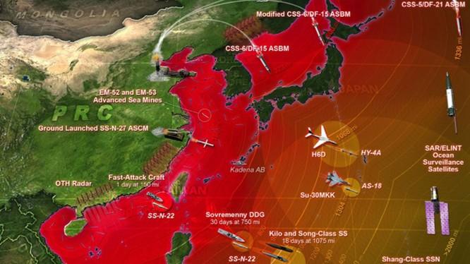 Trung tâm tư vấn CSBA của Mỹ nghiên cứu về hệ thống chiến lược A2/ẤN ĐỘ của Trung Quốc (Ảnh: CSBA).