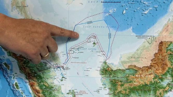 Vùng biển phía Bắc quần đảo Natuna thuộc vùng đặc quyền kinh tế của Indonesia là nơi xảy ra tranh chấp giữa Indonesia với Trung Quốc (Ảnh: Reuters).