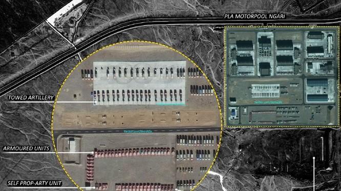 Trung Quốc tập trung nhiều binh lực ở gần biên giới để gây sức ép với Ấn Độ (Ảnh: Đa Chiều).