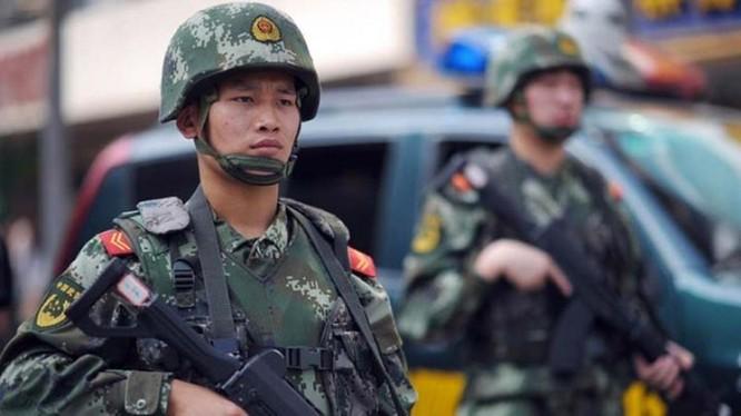 Cảnh sát Vũ trang Trung Quốc đã được tăng thêm nhiệm vụ, quyền hạn theo Luật Vũ cảnh mới (Ảnh:Apolo).