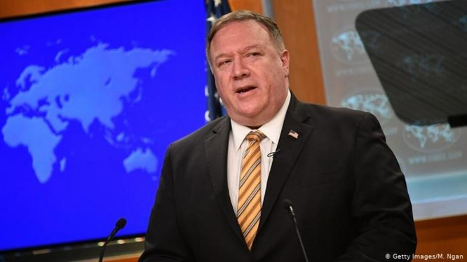 """Ngày 13/7, Ngoại trưởng Mỹ Mike Pompeo tuyên bố: """"Thế giới không cho phép Bắc Kinh coi Biển Đông là đế chế hàng hải của họ"""" (Ảnh: Getty)."""