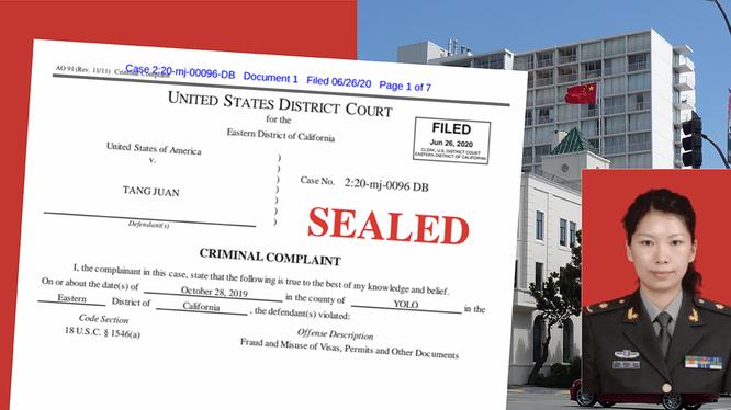 Đường Quyên, một trong 4 người bih khởi tố được cho là đang lẩn trốn trong Lãnh sự quán Trung Quốc tại San Francíco từ ngày 20/6 (Ảnh: Apolo).