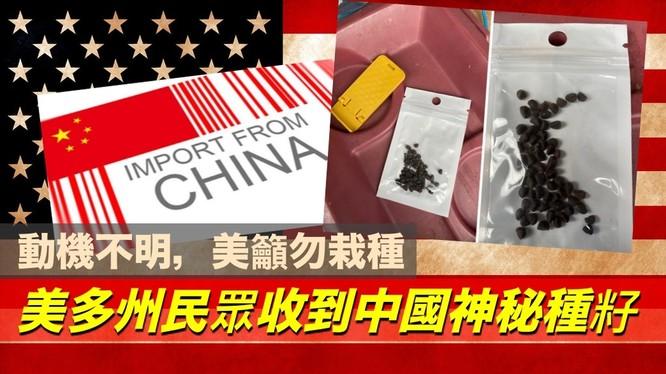 Ít nhất 27 bang ở Mỹ nhận được các túi hạt giống lạ gửi từ Trung Quốc; chính quyền khuyến cáo người dân không được tự ý gieo trồng (Ảnh: Hket).