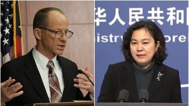 Ông David Stilwell và bà Hoa Xuân Oánh đấu khẩu kịch liệt qua vụ Trung Quốc đưa người ra ứng cử chức Thẩm phán Tòa án quốc tế về Luật biển (Ảnh: Đông Phương).