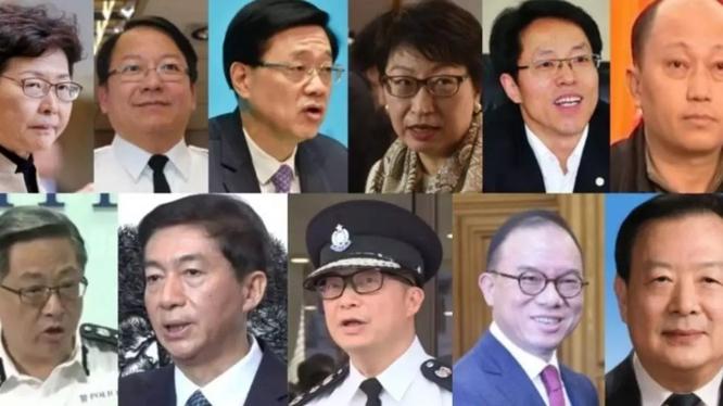 """11 quan chức Trung Quốc và Hồng Kông bị Bộ Tài chính Mỹ thông báo trừng phạt vì bị cho là chịu trách nhiệm về việc """"xói mòn quyền tự do chính trị của người dân Hồng Kông"""" (Ảnh: RFI)."""