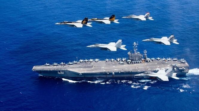 Tàu sân bay Mỹ ngày càng hoạt động thường xuyên hơn trên Biển Đông và biển Hoa Đông nhằm vào Trung Quốc (Ảnh: Getty).