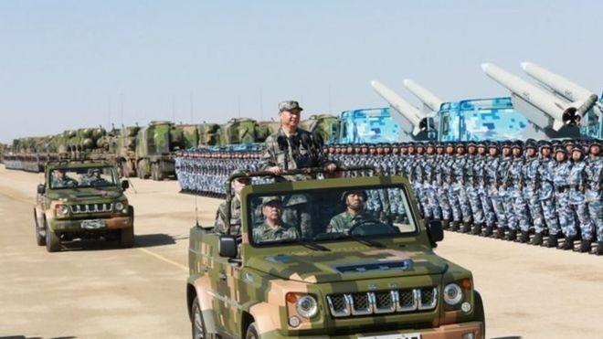 Báo cáo về quân sự Trung Quốc năm 2020 của Lầu Năm Góc cho rằng Trung Quốc đã đạt đến hoặc thậm chí vượt qua trình độ của Mỹ trong một số lĩnh vực quân sự (Ảnh: Tân Hoa xã).